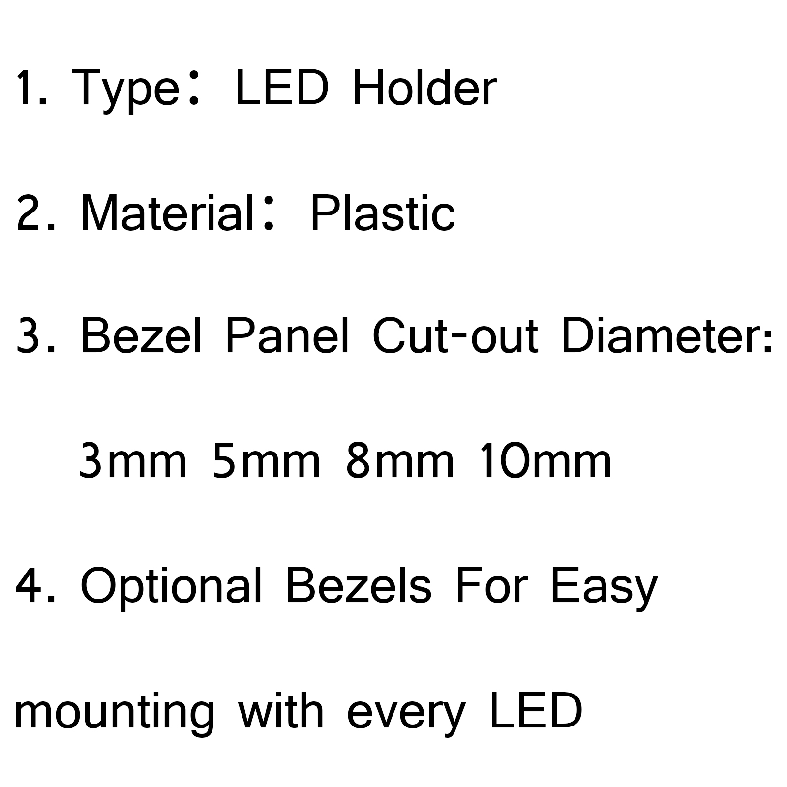 Pcs 8mm Led Holder Light Lamp Diode Plastic Bezel