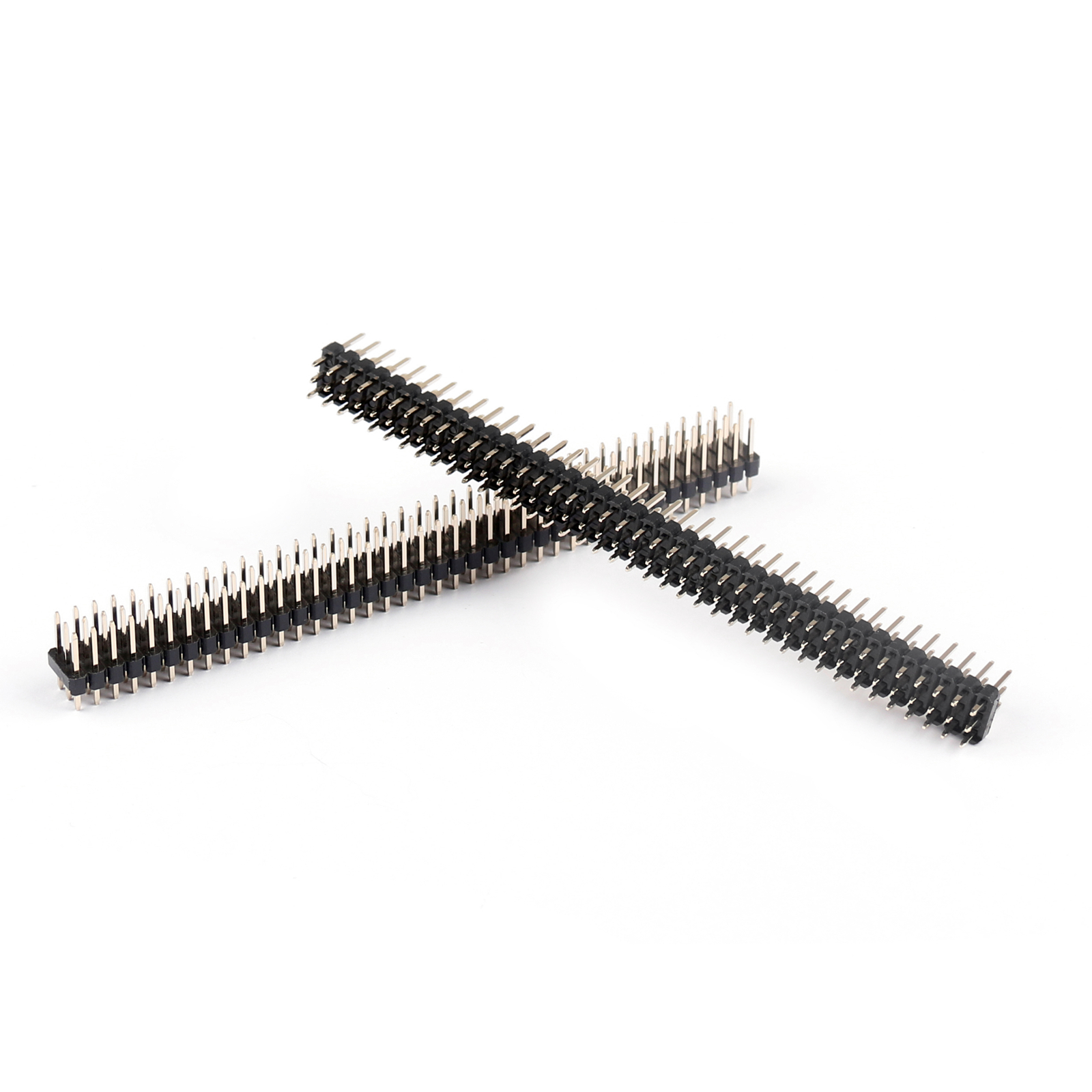 4x Gold Plated 3x40pin 2 54mm Male Three Row Strip Female