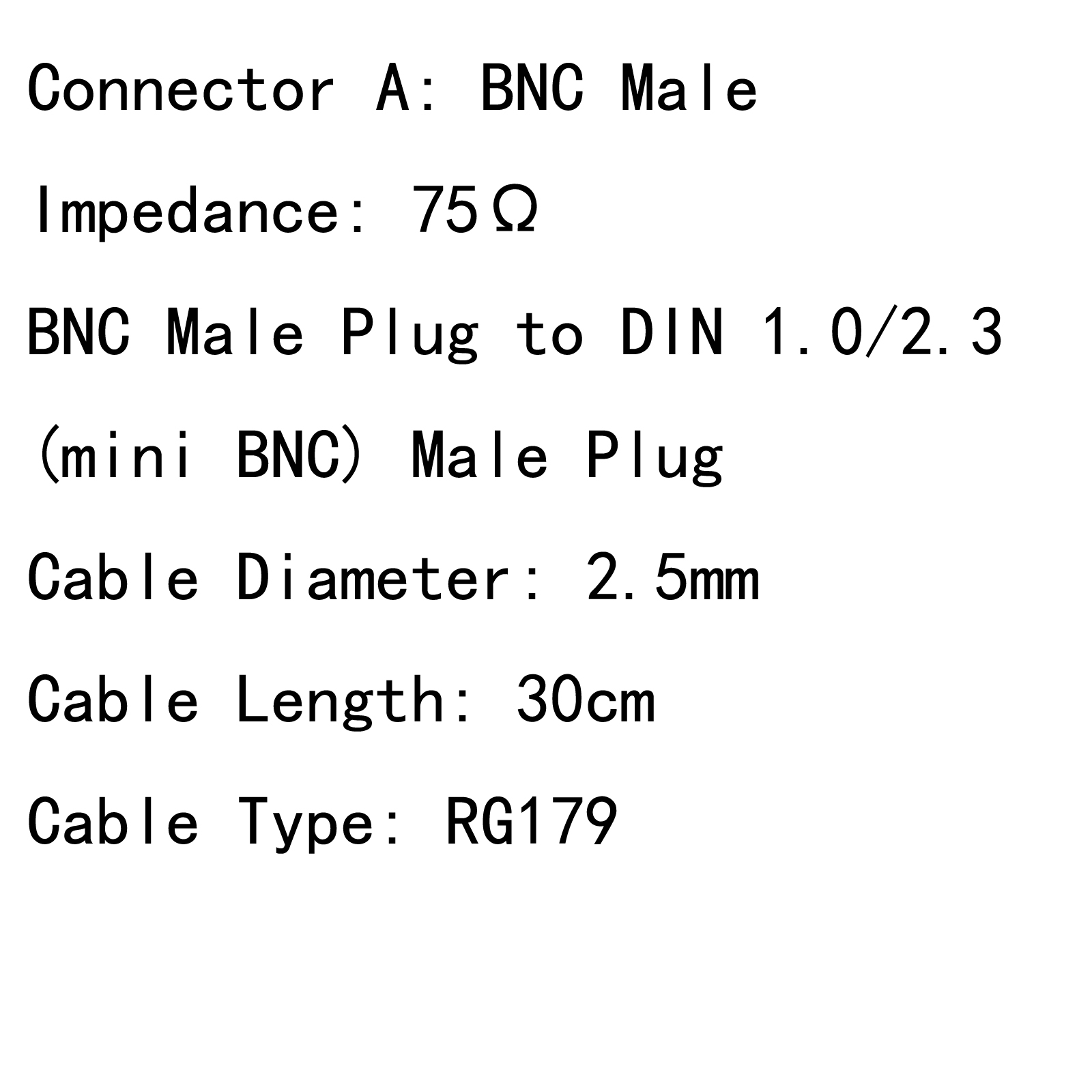 Bnc To Din 1 0 2 3 Rg179 Hd Sdi 75 Cable For Blackmagic