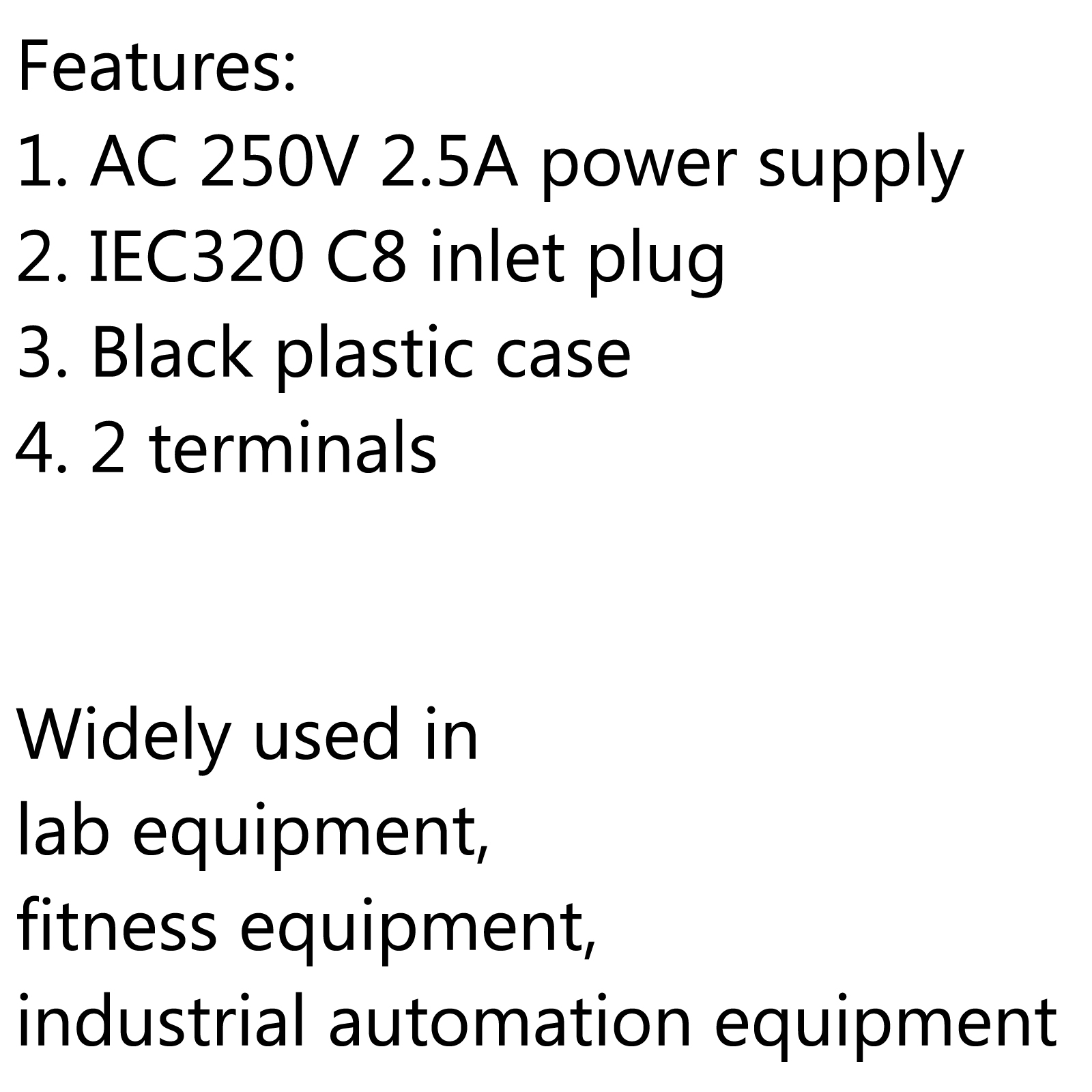 20x Iec320 C8 2 Pin Male Power Socket With Switch 2 5a