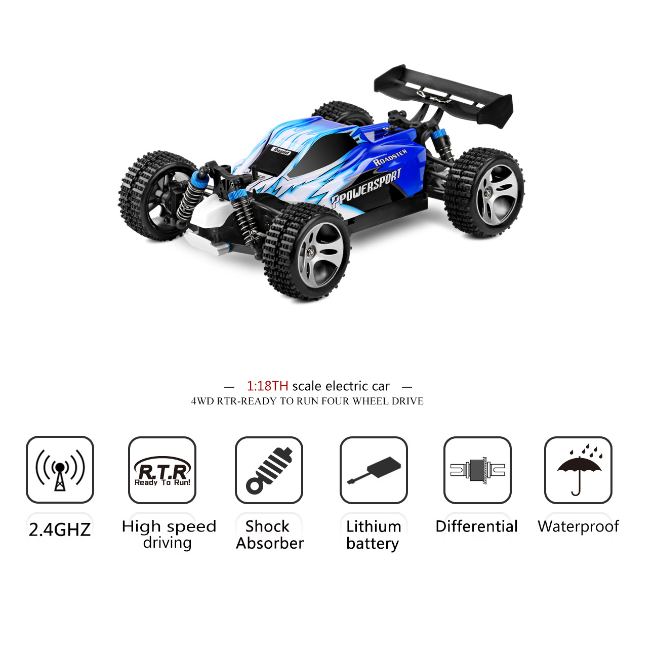 Wltoys A959 1 18 Scale 2 4g 4wd Rtr Off Road Buggy