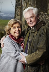Celia (ANNE REID)and Alan (DEREK JACOBI at Far Slack Farm