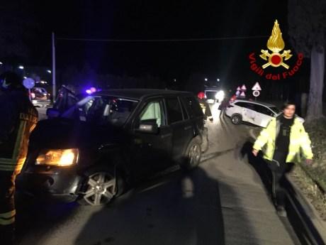 incidente stradale - Vigili del Fuoco