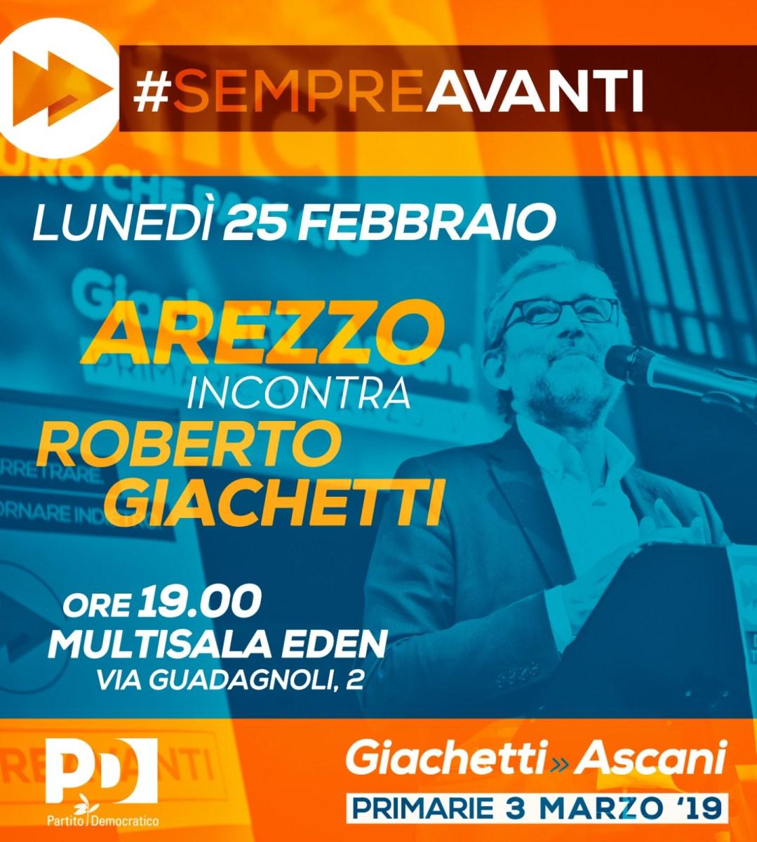Primarie Pd: Roberto Giachetti all'Arena Eden