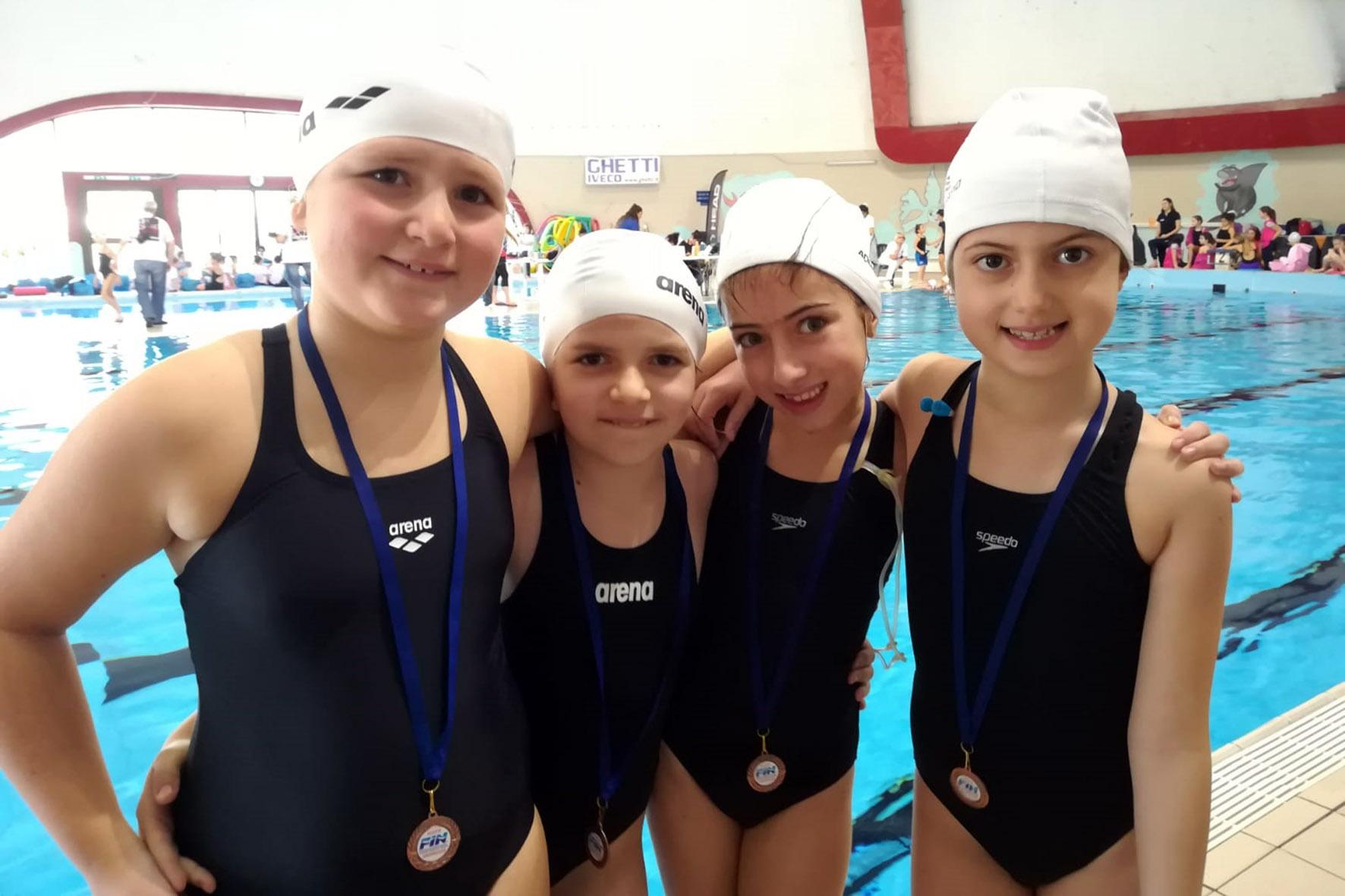 4d6c92413f03 La Chimera Nuoto vince due medaglie nel nuoto sincronizzato - ArezzoWeb