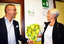 Presidente Castellucci e il Direttore Rossi