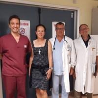 Dalla Svizzera a Siena, torna dopo un anno per ringraziare i professionisti del Pronto Soccorso che l'hanno salvata