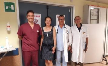 Dalla Svizzera a Siena, torna dopo un anno per ringraziare i professionisti del Pronto Soccorso che l'hanno salvata grazie a una diagnosi tempestiva