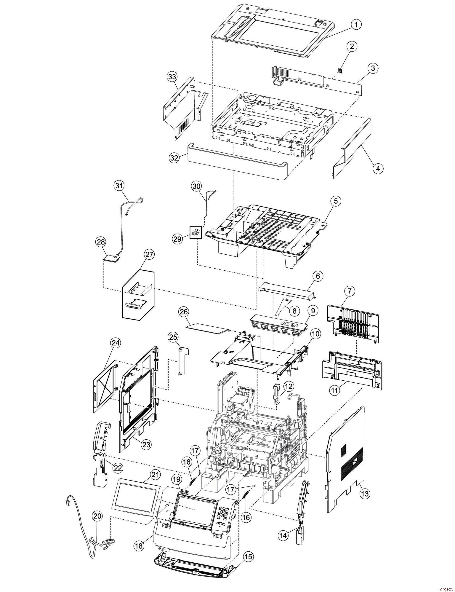 Ibm Infoprint Mfp Parts