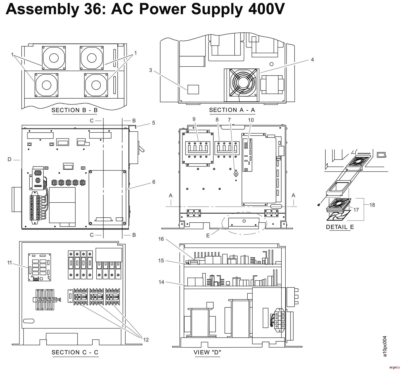 Assembly 32 Fuser Control Box Thru 36 Ac Power Supply