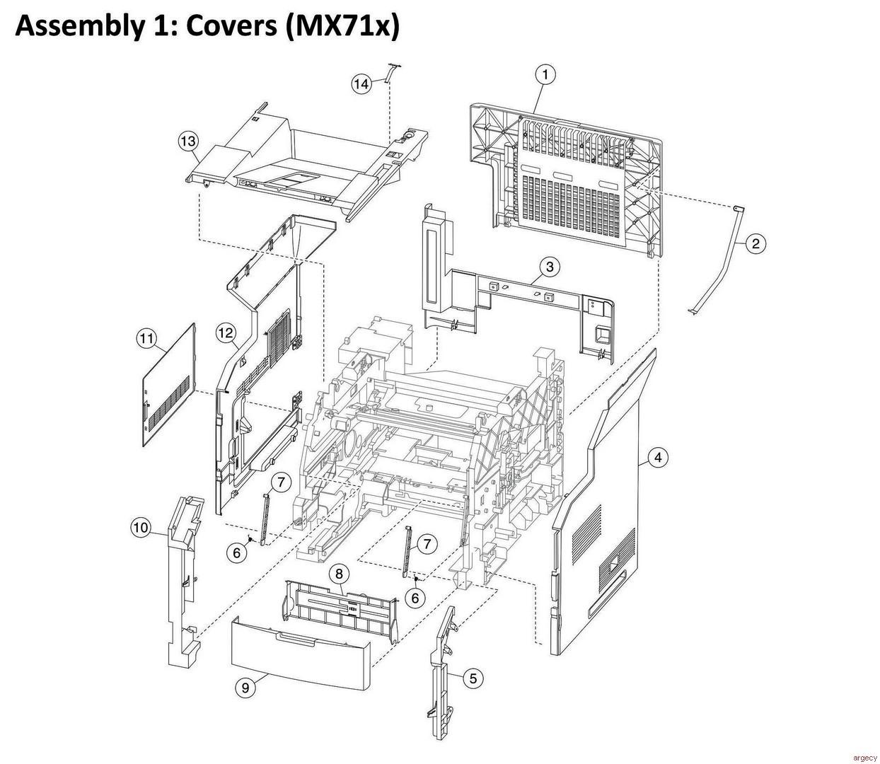 Lexmark Mx810 Mx811 Mx812 Mx710 Mx711 Xm Xm Xm