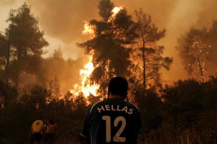 Imágenes de los incendios en Eubea Grecia (agosto 2021) 10
