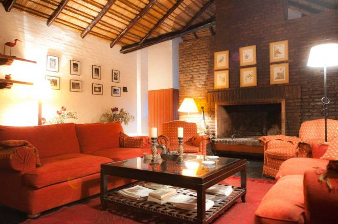Inside Malalcue lodge
