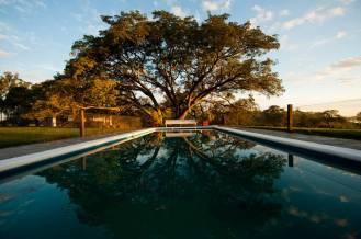 Swimming pool at Malalcue lodge