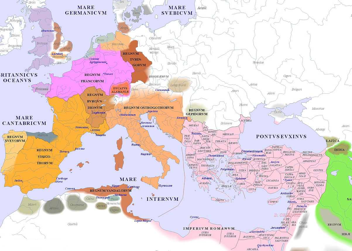 Map Beginning Roman Empire