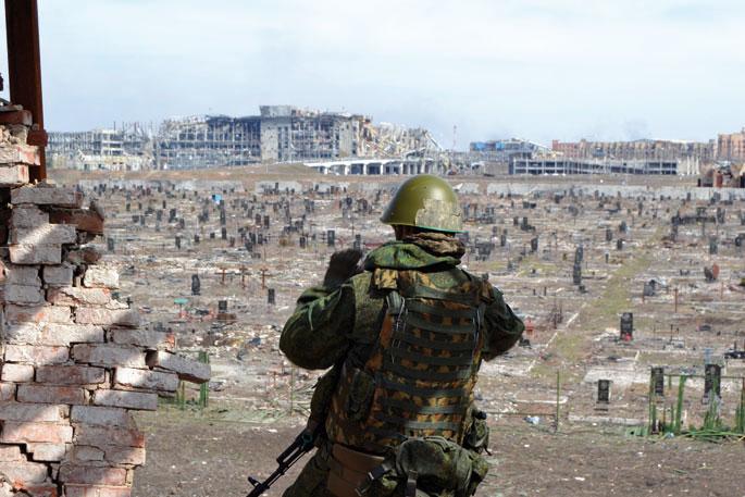 Donbasseko gatazkaren ikur bihurtu da Donetskeko aireportua kontrolpean izateko borroka.