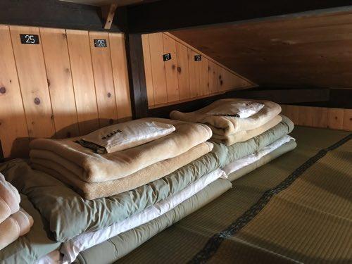 奥穂高山荘 部屋