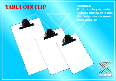 Tabla con clip 2
