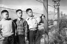 Boys behind barbed wire fence @ToyoMiyatake