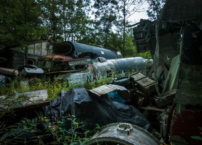 The collection also features ex Navy machines, and a Fairchild C-82 Boxcar fuselage.