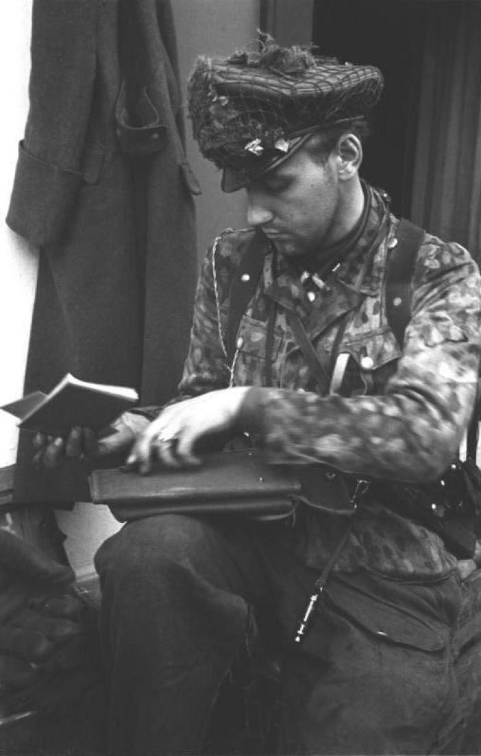German Waffen-SS Officer in Arnhem, 1944.