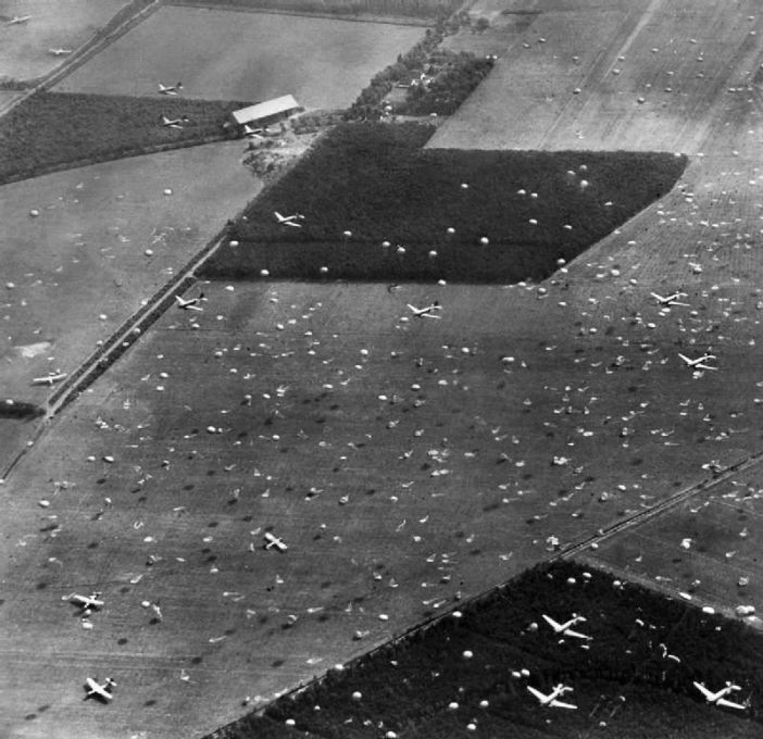 """Operation Market I"": the airborne operation to seize bridges between Arnhem and Eindhoven, Holland, (part of Operation Market Garden)."
