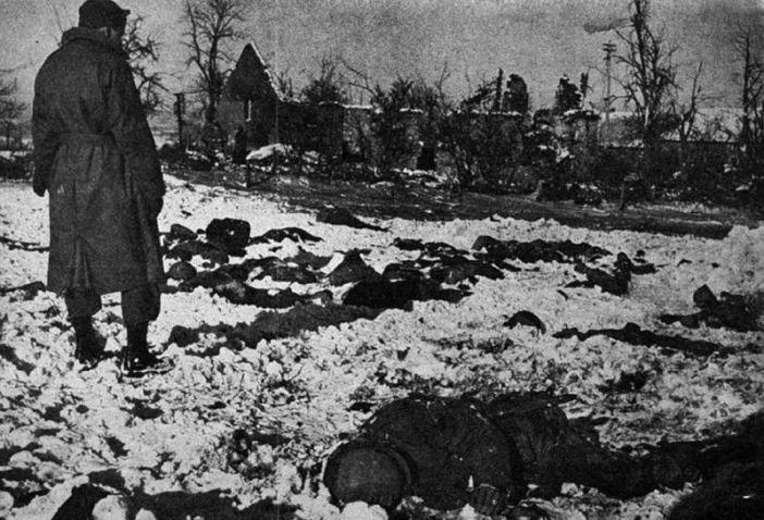 Scene of the Malmedy massacre