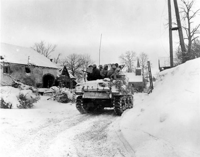 Tank in the town of Schopen, Belgium