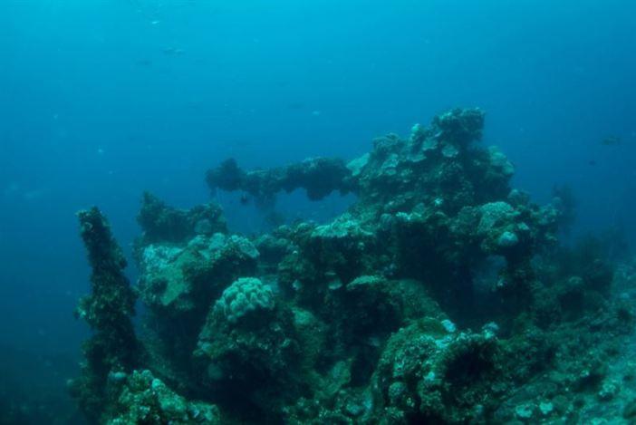 Bow gun of the Fujikawa Maru. (Credits: Brandi Mueller)