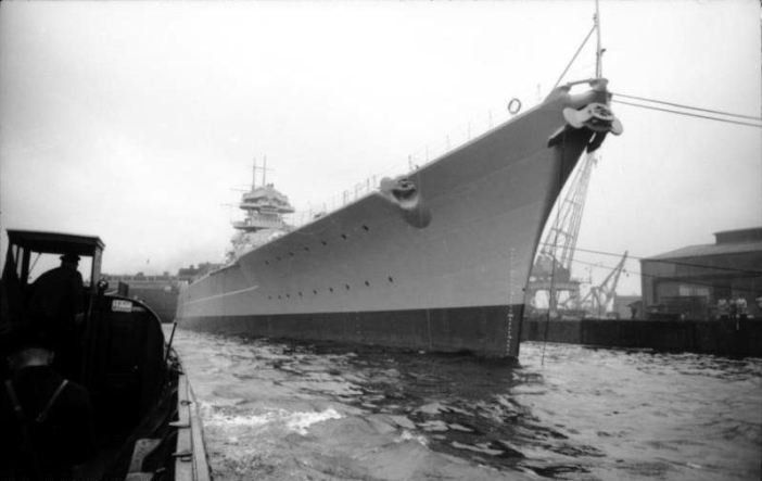 German Battleship 'Bismarck' brought into service (Credits: Bundesarchiv)