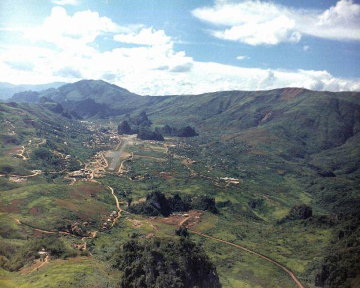 Long Tieng, Laos, in December 12, 1973. (Credits: Gr. Jenkins)