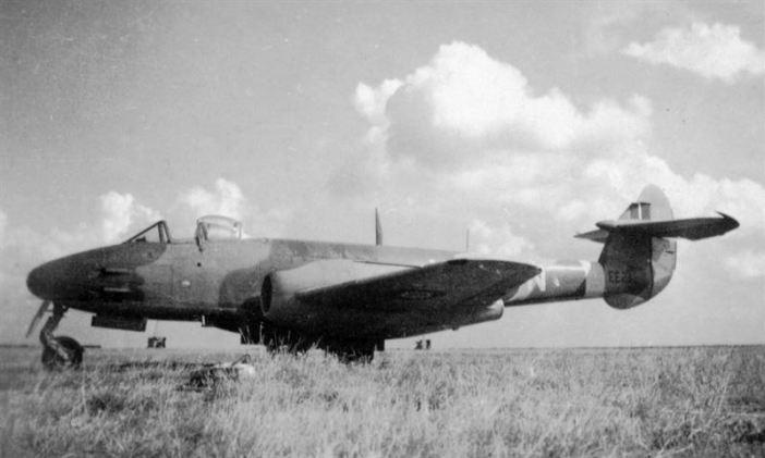 RAF Gloster Meteor at Lübeck