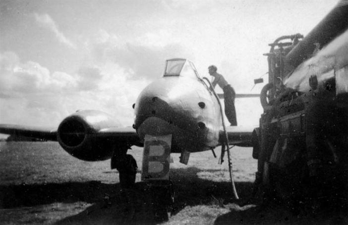 Gloster Meteor, RAF Aircraft, at Lübeck