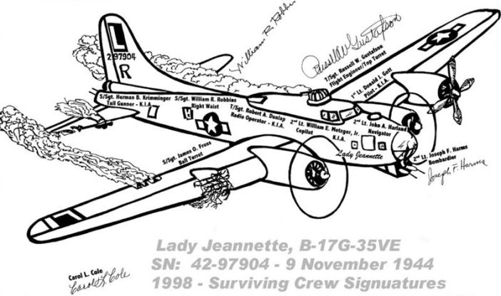 Drawing of the Lady Jeannette