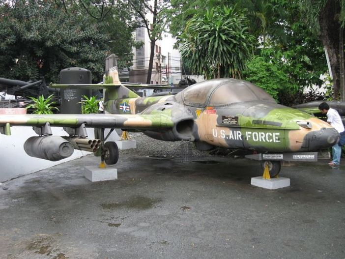 "A former U.S. Air Force Cessna A-37B Dragonfly (s/n 70-1285, c/n 43300), used in the Vietnam War. It was passed on to the South Vietnamese Air Force as ""287"". In 1975 it was taken over by the Vietnam People's Air Force ""09"". It is today on display at War Remnants Museum, Ho Chi Minh City, Vietnam (the markings do not represent any USAF markings)."