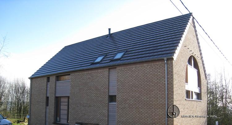 Maison éco-bio-climatique passive conçue par Véronique Staffe inspirée par la spirale du nombre d'or.