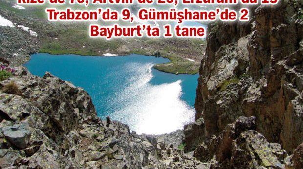 Doğu Karadeniz'de 117 buzul gölü tespit edildi