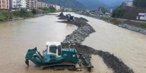 Doğu Karadeniz'in Taşkın Riskini Azaltmak İçin Çalışmalar Başladı