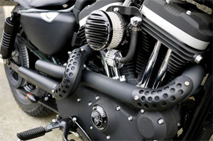 rough crafts guerilla exhaust system for harley davidson 2004 2020 sportster motorcycles arm118339