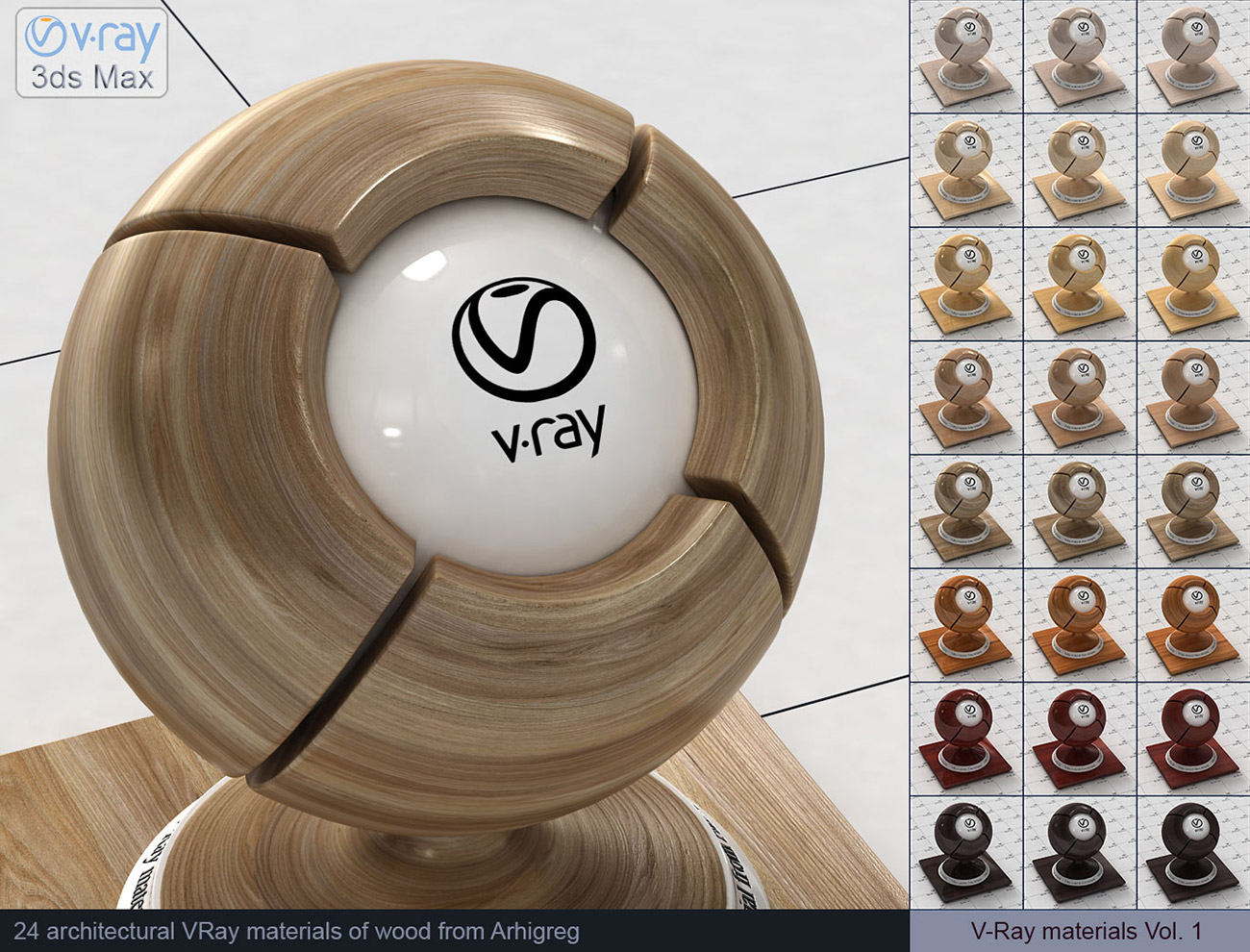VRay Material Collection 264 VRay Materials For 3dsMax