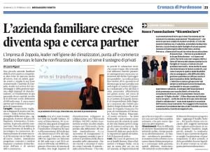 Articolo Aria Spa - Messaggero Veneto