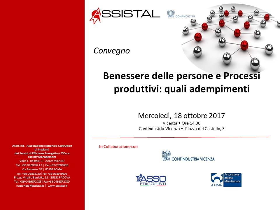 Benessere delle persone e Processi Produttivi