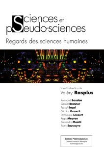 Sciences et pseudo-sciences. Regards des sciences humaines , Valéry Rasplus (éd.), 2014.