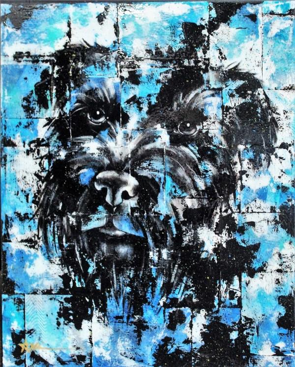 Portrait d'Agathe le chien (commande spéciale)