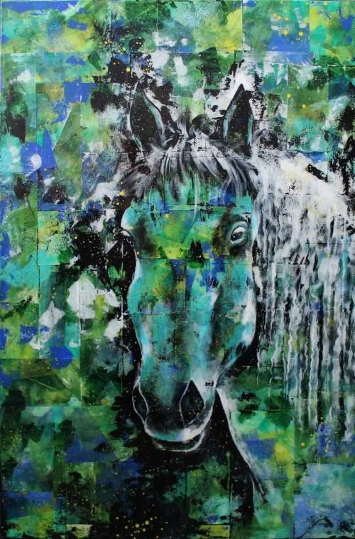 """Photo de l'oeuvre """"Le Percheron"""" (cheval)"""