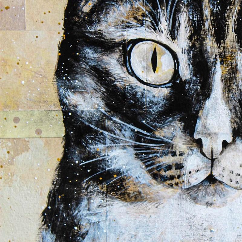 Détails du portrait de Tabitha (chatte)