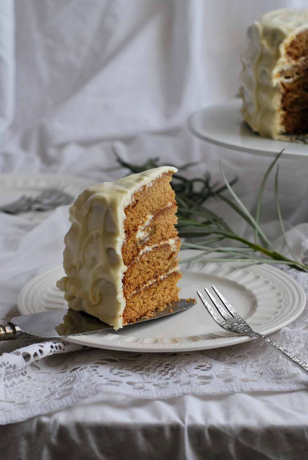 Layered pear cake with honey frosting on page 51, by Giedre Augustinaviciute.