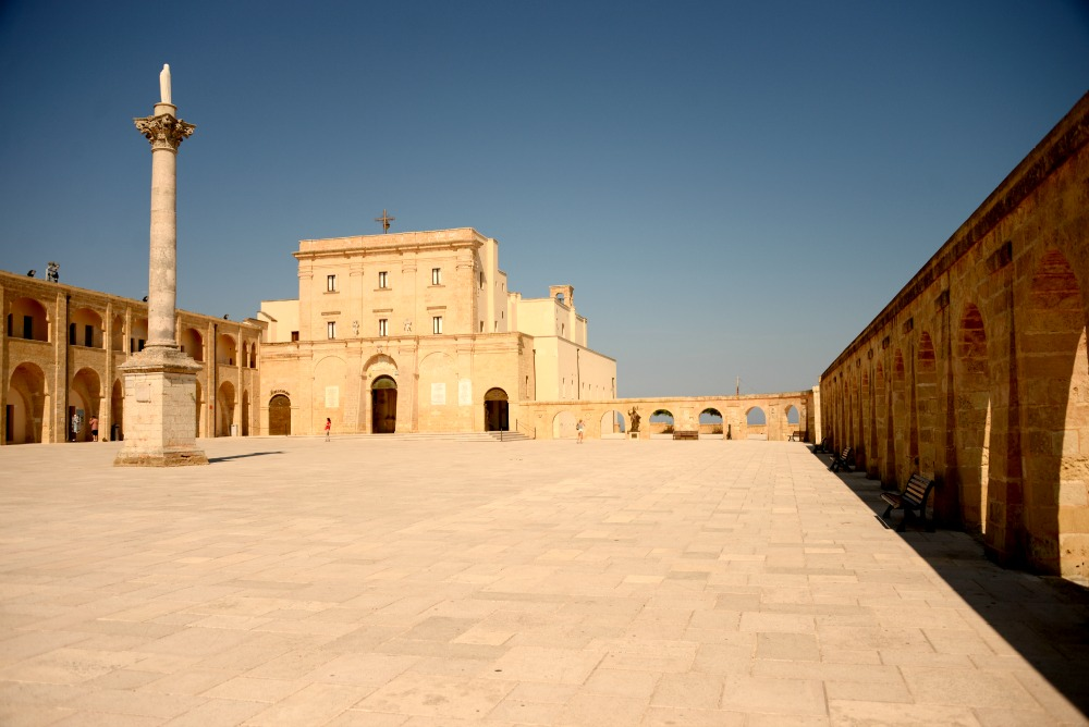 Basilica, De Finibus Terrae , built to commemorate the passage of St. Peter here during his travel to Italy.