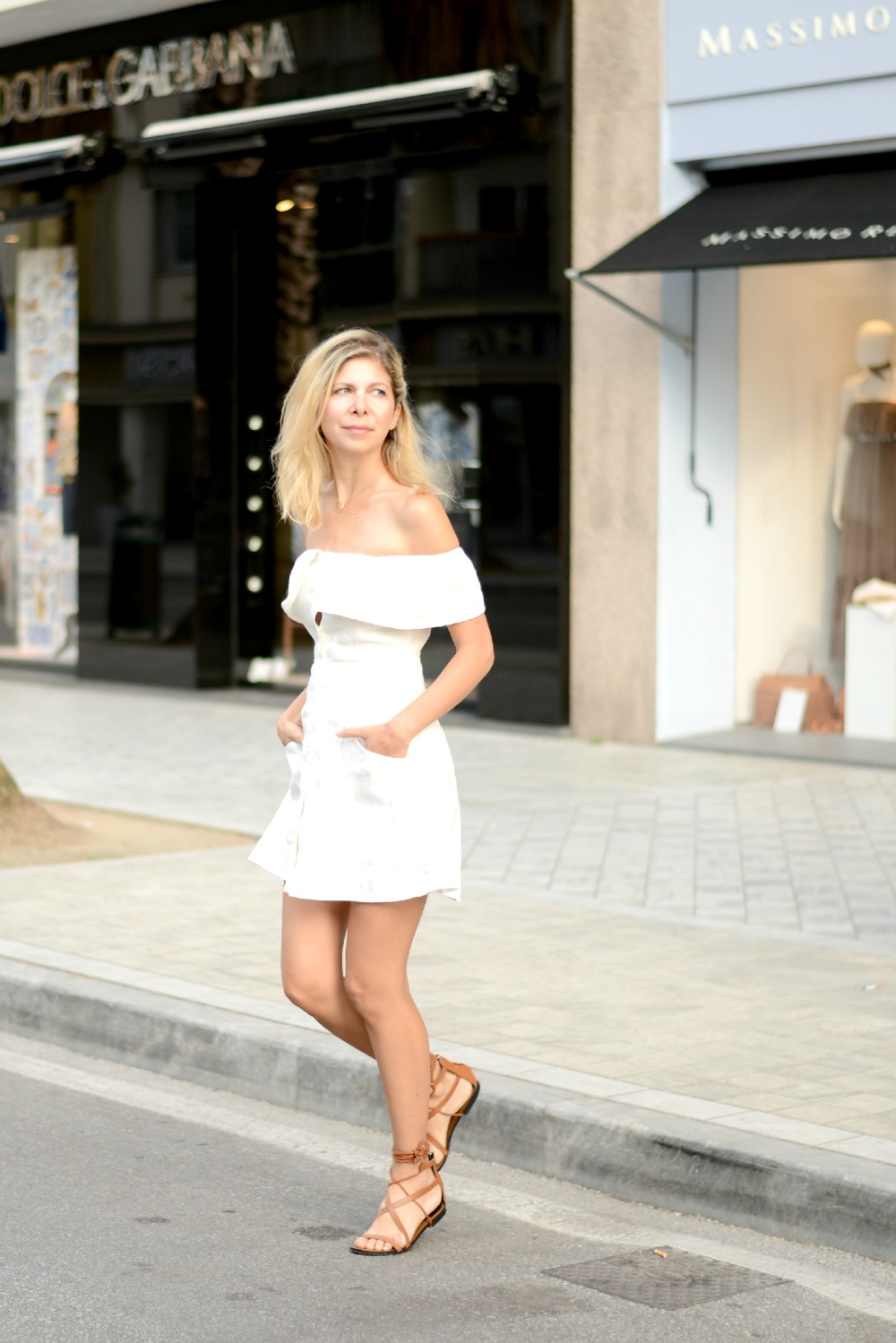 Arianna Trapani in the Botanica dress from Reformation