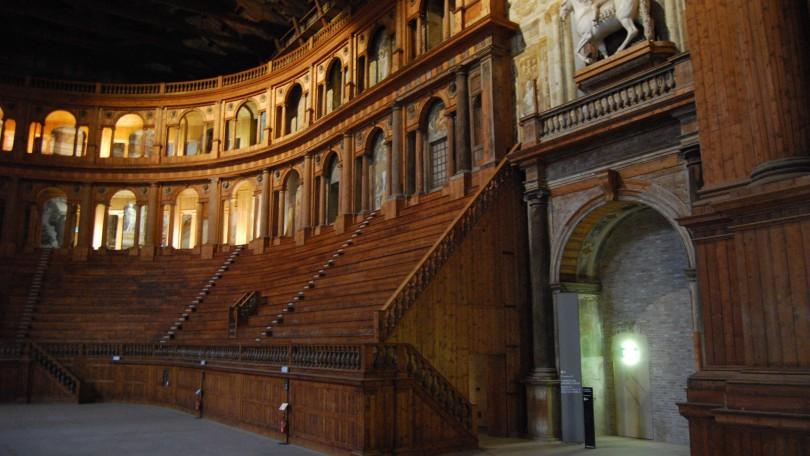 Interiors of the Teatro Farnese - Image via Bologna Magazine